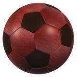 Röd hög upplösning för läderfotbollboll som isoleras på en vit bakgrund Fotografering för Bildbyråer