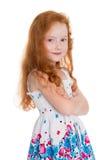 Röd haired flicka av sex år Royaltyfri Fotografi
