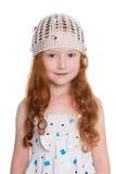 Röd haired flicka av sex år Arkivbilder