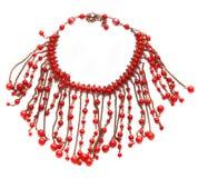Röd halsband royaltyfria foton