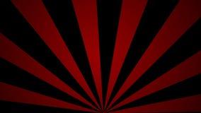 Röd halv liten sol som roterar den sömlösa öglan för abstrakt bakgrundstappningstil arkivfilmer