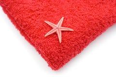röd handduk fotografering för bildbyråer