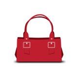 Röd handväska vektor illustrationer