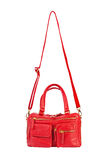 Röd handväska Royaltyfria Foton
