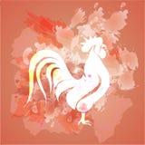 Röd hane Arkivfoto