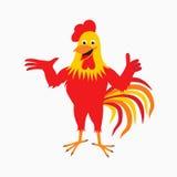 Röd hane för tecknad film Royaltyfri Bild