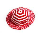 Röd hatt Fotografering för Bildbyråer