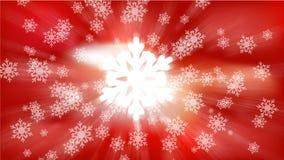 Röd HD-snowbakgrund Stock Illustrationer