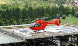 Röd helikopter Royaltyfria Bilder