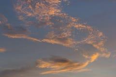 Röd himmel Arkivfoto
