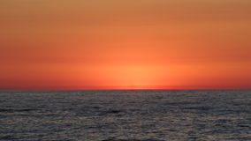 Röd himmel och havet royaltyfria foton