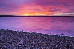 Röd himmel på natten med vibrance Royaltyfria Foton