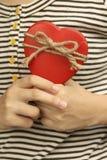 Röd hjärta Royaltyfri Foto