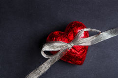 Röd hjärta Arkivfoto