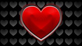 Röd hjärta arkivfilmer