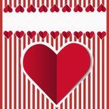 Röd hjärta Royaltyfria Foton