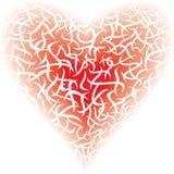 Röd hjärta, royaltyfria bilder