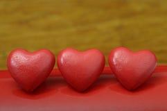 Röd hjärta för förälskelse Royaltyfria Bilder