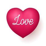 Röd hjärta för förälskelse royaltyfri illustrationer
