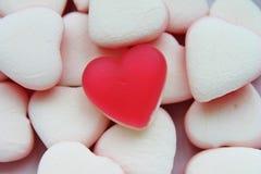 Röd hjärta för gelésötsakgodis Royaltyfri Foto