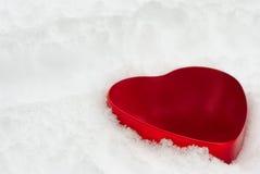 Röd hjärta för Tin royaltyfria bilder
