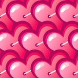 Röd hjärta för vektorbakgrund Royaltyfri Foto