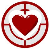 Hjärta i uppsätta som mål Arkivfoton
