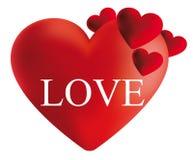 Röd hjärta-illustration Royaltyfri Bild