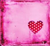 Röd hjärta inramar bakgrund Arkivbilder