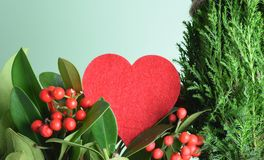 Röd hjärta med sörjer Royaltyfria Foton