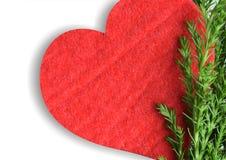 Röd hjärta med sörjer Arkivfoto