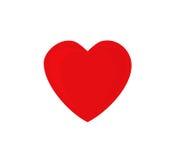 Röd hjärta med skuggor. Arkivfoto