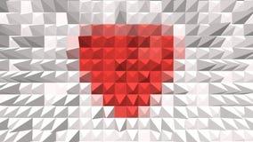 Röd hjärta på bakgrund Royaltyfri Bild