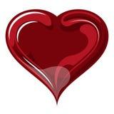 Röd hjärta på dag för valentin` s. Royaltyfria Bilder