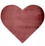Röd hjärta på den förstörda väggen Royaltyfria Foton