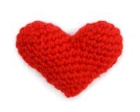 Röd hjärta på vit bakgrund Royaltyfri Fotografi