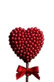 Röd hjärta som göras av små bollar Royaltyfria Bilder