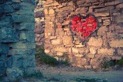 röd hjärta som målas royaltyfri fotografi