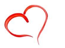 röd hjärta som målas Fotografering för Bildbyråer