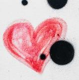 röd hjärta som målas Royaltyfria Bilder
