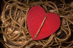 Röd hjärta - symbol av förälskelse Royaltyfri Fotografi