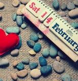 Röd hjärta, valentindag Arkivbilder