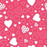 Röd hjärtabakgrund Arkivfoto