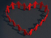 Röd hjärtabetong för affärsman vektor illustrationer
