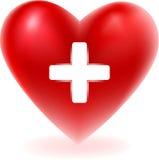 Röd hjärtaform Arkivfoto