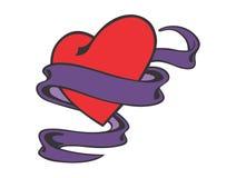 Röd hjärtaillustration Royaltyfria Foton
