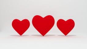 Röd hjärtaisolat Royaltyfria Foton