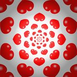 Röd hjärtaoändlighetsbakgrund royaltyfri illustrationer