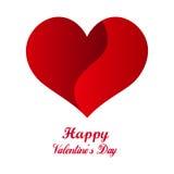 Röd hjärtaorigami lycklig s valentin för dag Arkivbild