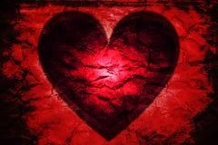 Röd hjärtasvart Arkivbild